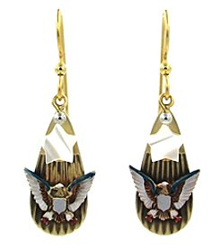 Silver Forest® American Eagle And Star Earring