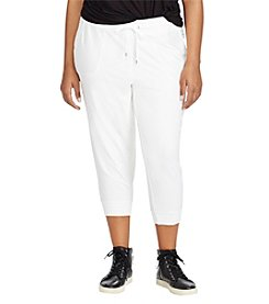 Lauren Ralph Lauren® Plus Size Cropped Skinny Sweatpants