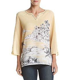 Alfred Dunner® Printed Woven Top