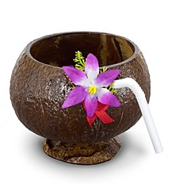 BuySeasons Coconut Molded Cup with Straw
