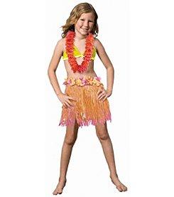 BuySeasons Child Two-Tone Pink/Orange Hula Skirt