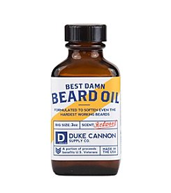 Duke Cannon Supply Co Best Damn Beard Oil, 1.6 oz.