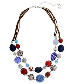 Erica Lyons® American Pie Silvertone Double Row Necklace