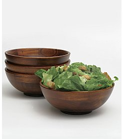 Lipper International Small Cherry Salad Bowls - Set of 4