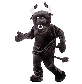 Deluxe Mascot Bull Adult Costume