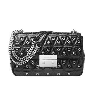 ... Sloan Lg Grommeted Patent glossy Leathr UPC 191262437427 product image  for MICHAEL Michael Kors Large Chain Shoulder Bag.  57662917fd25d