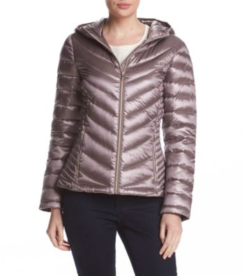 Calvin Klein Packable Down Womens Jacket (Shine Fig)
