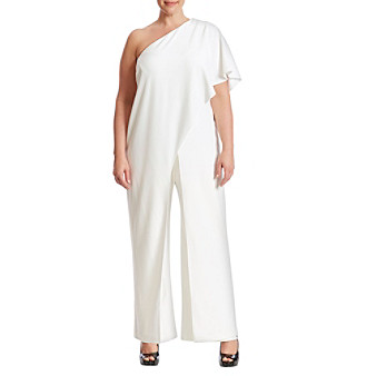 af04f7c121ed94 ... Size UPC 797532599767 product image for Adrianna Papell® Plus Size One  Shoulder Jumpsuit | upcitemdb.