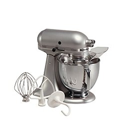KitchenAid® Artisan® Silver Metallic 5-qt. Stand Mixer + FREE Grinder or Shredder see offer details