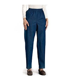 Alfred Dunner® Denim Pull-on Pants - Classic Wash
