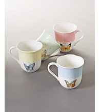 Lenox® Butterfly Meadow® Set of 4 Mugs