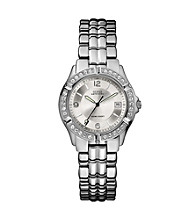 Guess Silvertone Crystal Bezel Watch - Silvertone