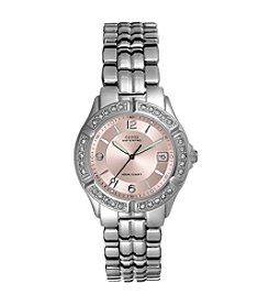 GUESS Crystal Bezel Watch - Pink
