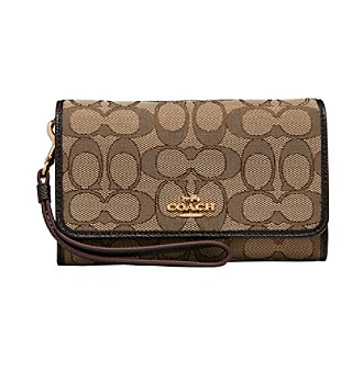 9f4d94f7af ... (SV Black Smoke  UPC 191202465442 product image for COACH PHONE CLUTCH  IN SIGNATURE JACQUARD