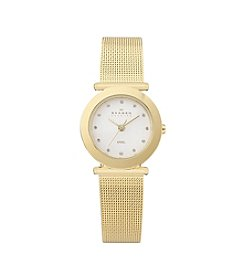 Skagen Denmark Women's Goldtone Mesh Watch