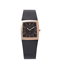 Skagen Denmark Women's Brown Mesh Watch with Goldtone