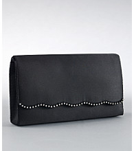 La Regale® Rhinestone Flap Handbag - Black