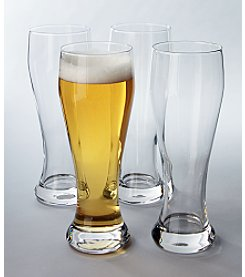 LivingQuarters Set of Four Pilsner Glasses