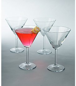 LivingQuarters 4-Pack Martini Glasses