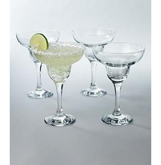 LivingQuarters 4-Pack Margarita Glasses