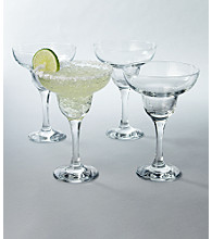 LivingQuarters 4-Pack Margarita Glasses