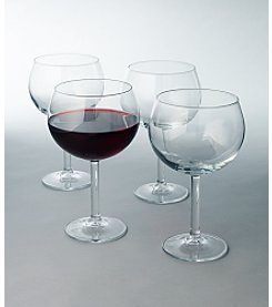 LivingQuarters 4-Pack Balloon Wine Glasses