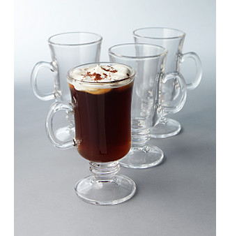 LivingQuarters 4-Pack Irish Coffee Set