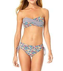 Anne Cole Twist Bandeau Bikini Top and Hipster Romance Bottoms