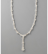 Carolee® Linear Drop Crystal Y-Necklace
