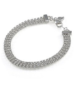 Carolee® Triple Row Crystal Bracelet