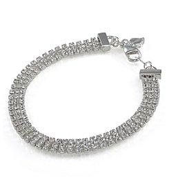 Carolee® Triple Row Crystal Bracelet