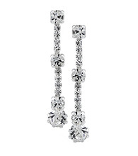 Carolee® Linear Chain Crystal Drop Earrings