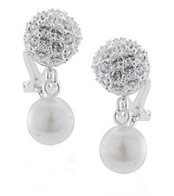 Carolee® Pave Crystal & Pearl Drop Earrings