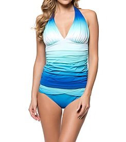 Bleu Rod Beattie Ombre Halterkini Top and Hipster Bottoms