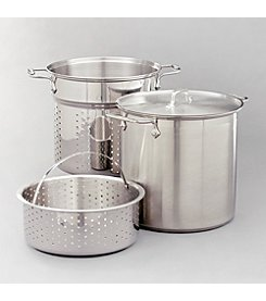 All-Clad® 12-qt. Stainless Steel Multi Cooker with Two Steamer Baskets & Lid