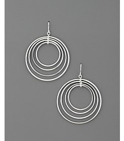 Lauren Ralph Lauren Multi  Ring Hoop Earrings - Silvertone