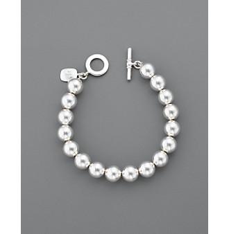 Lauren Ralph Lauren 10MM Beaded Bracelet - Silvertone