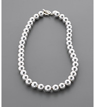 Lauren Ralph Lauren 10mm Beaded Necklace - Silvertone