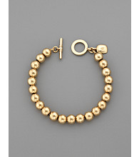 Lauren Ralph Lauren 8MM Beaded Bracelet - Goldtone