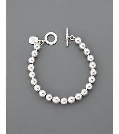Lauren Ralph Lauren 8MM Beaded Bracelet - Silvertone