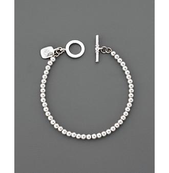Lauren Ralph Lauren 4MM Beaded Bracelet - Silvertone