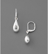 Lauren Ralph Lauren Metal Teardrop Click-it Clasp Earrings - Silvertone