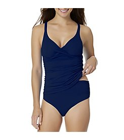 Anne Cole Basic Tankini Top with High Waist Bottoms