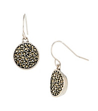 Kenneth Cole® Circle Drop Earrings - Silvertone