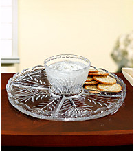 Fifth Avenue Crystal Ltd.® Portico Cake Plate/Chip n' Dip