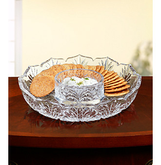 Fifth Avenue Crystal Ltd.® Portico Cracker & Dip Tray
