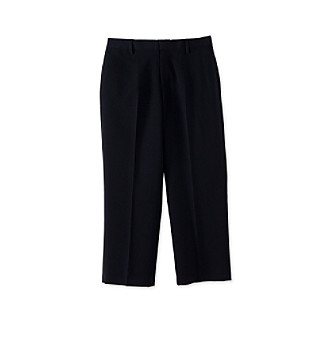 Calvin Klein Boys' 8-20 Navy Flat-Front Bi-Stretch Pants