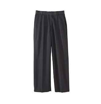 Calvin Klein Boys' 8-20 Charcoal Flat-Front Bi-Stretch Pants