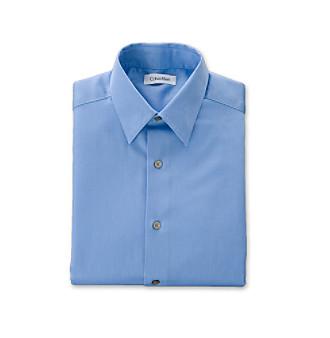 Calvin Klein Boys' 8-20 Medium Blue Sateen Dress Shirt
