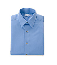 Calvin Klein Boys' 8-20 Medium Blue Sateen Dress Shirt